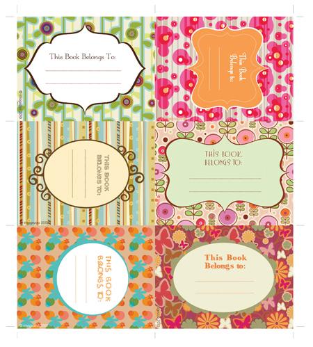 Free Printable Book Labels
