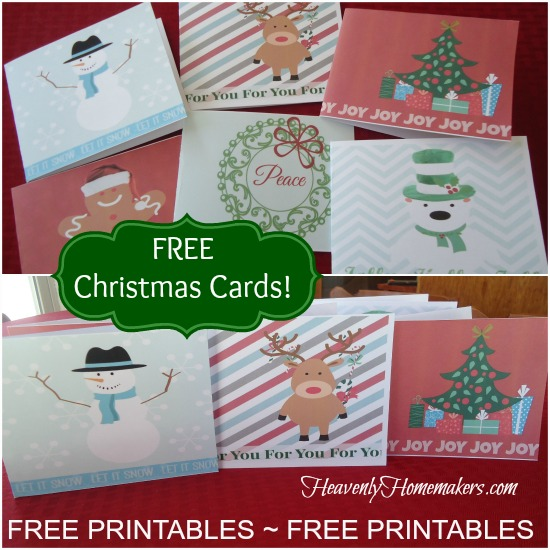 4 Images of Printable Christmas Cards For Mom