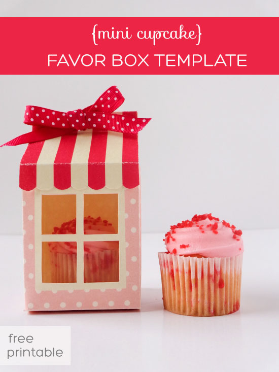 7 Images of Cupcake Boxes Template Printable