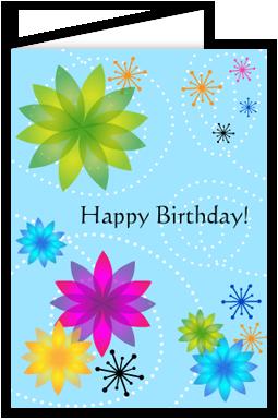 Free Printable Folding Birthday Cards