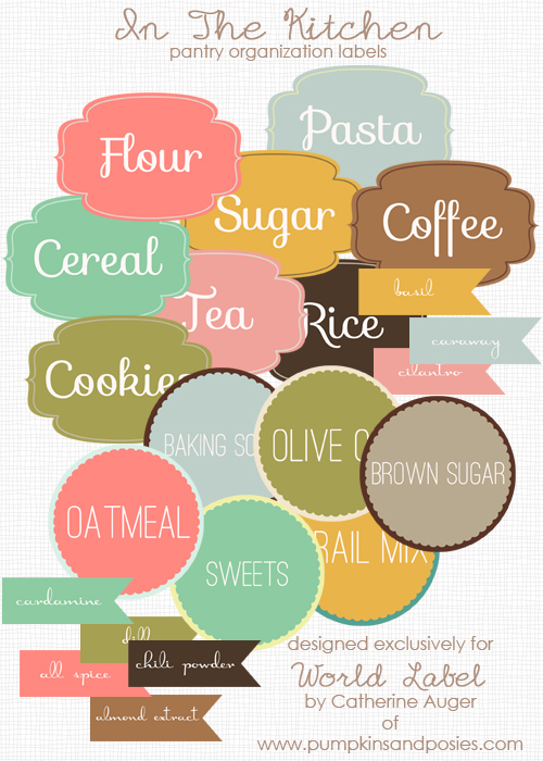 8 Images of Food Pantry Labels Printable