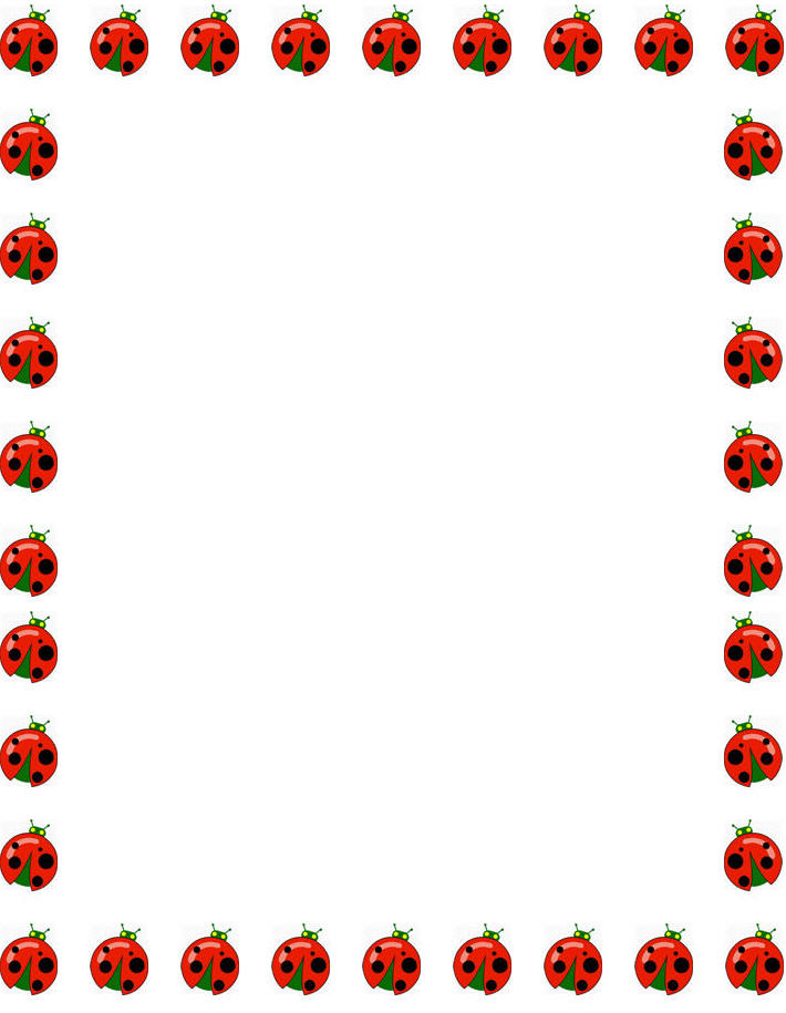 Free Printable Ladybug Borders for Paper