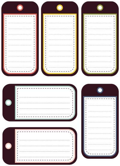 5 Images of Monogram Luggage Tags Free Printable Template
