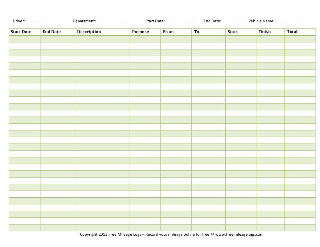 ... , Printable Exercise Log Workout & Free Printable Mileage Log Sheet