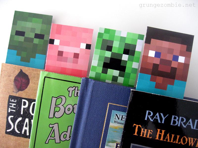 Free Printable Minecraft Bookmarks