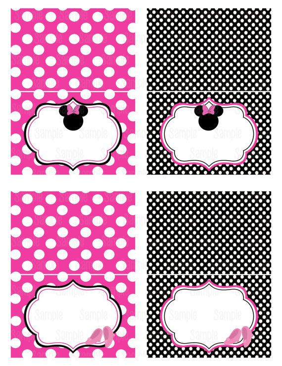 9 Best Images Of Minnie Mouse Food Labels Printable Free