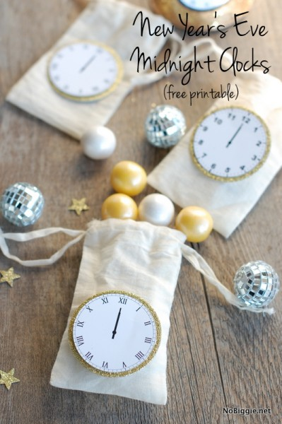 8 Images of Free Printable New Year's Clocks