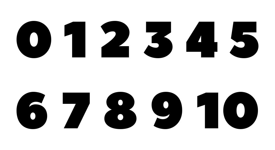 Printable Numbers 0 10