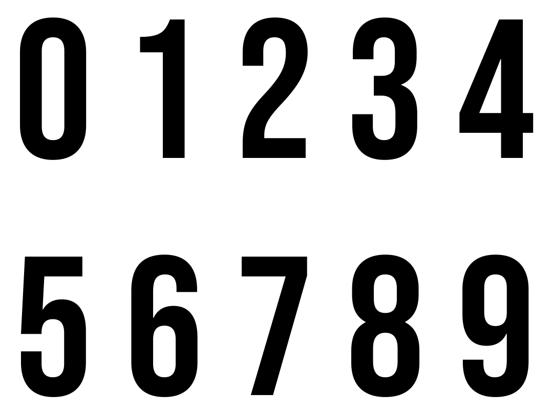 Large Printable Numbers 0-9