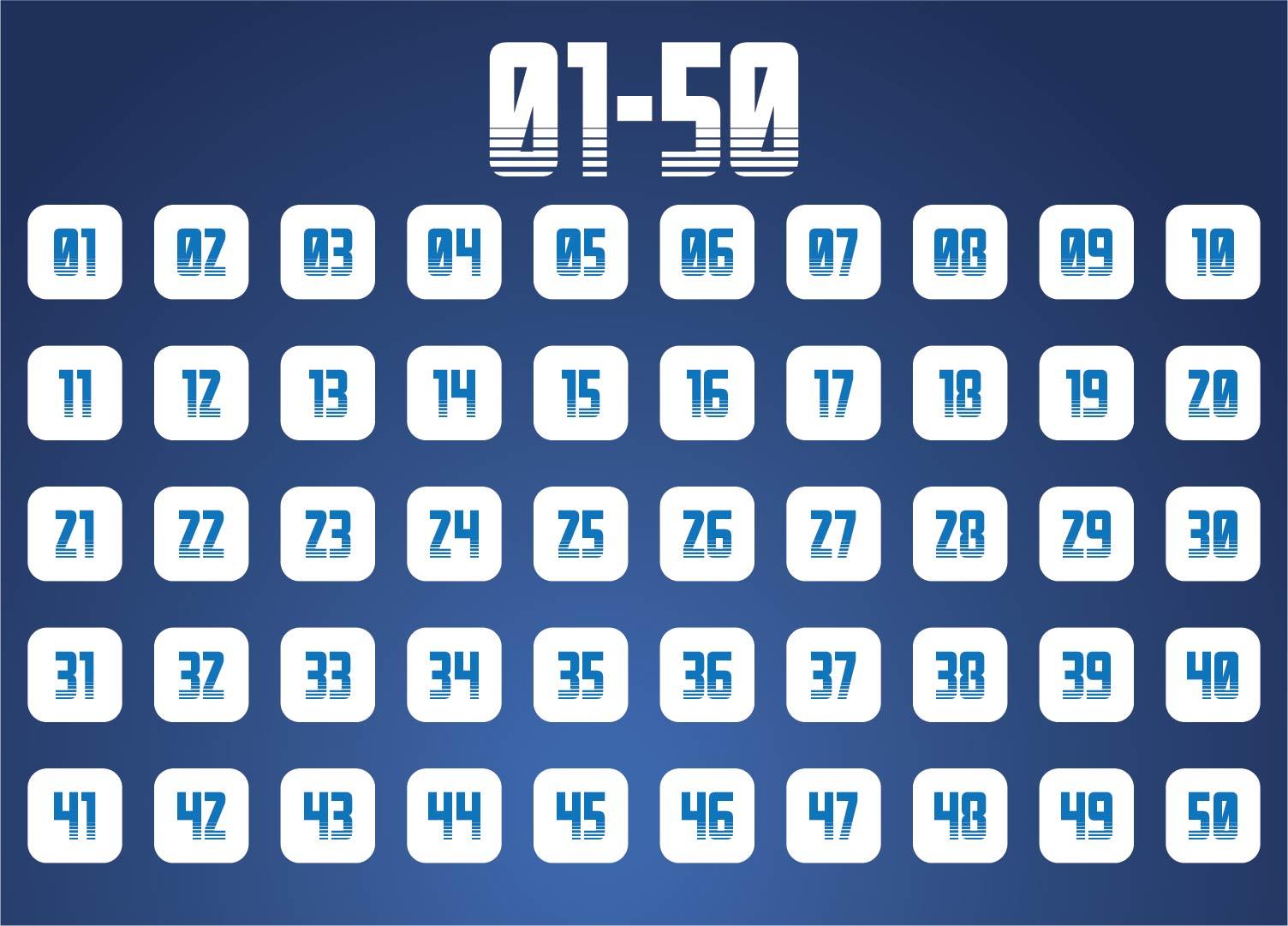 Printable Numbers 1 50