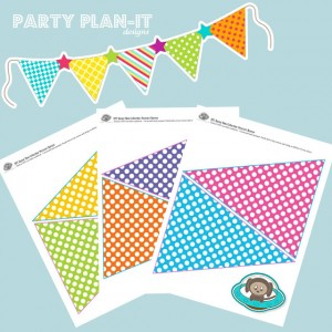 6 Images of Free Printable Birthday Pennant Banner