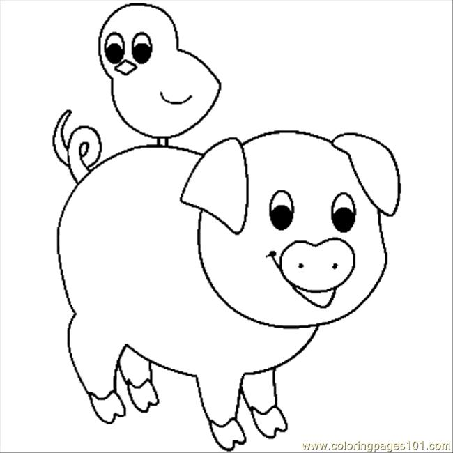 4 Images of Free Printable Coloring Pages Pig