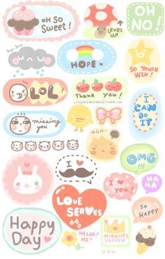 5 Images of Free Printable Kawaii Stickers
