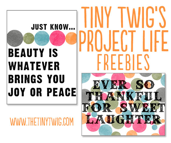 Free Printable Project Life Quotes
