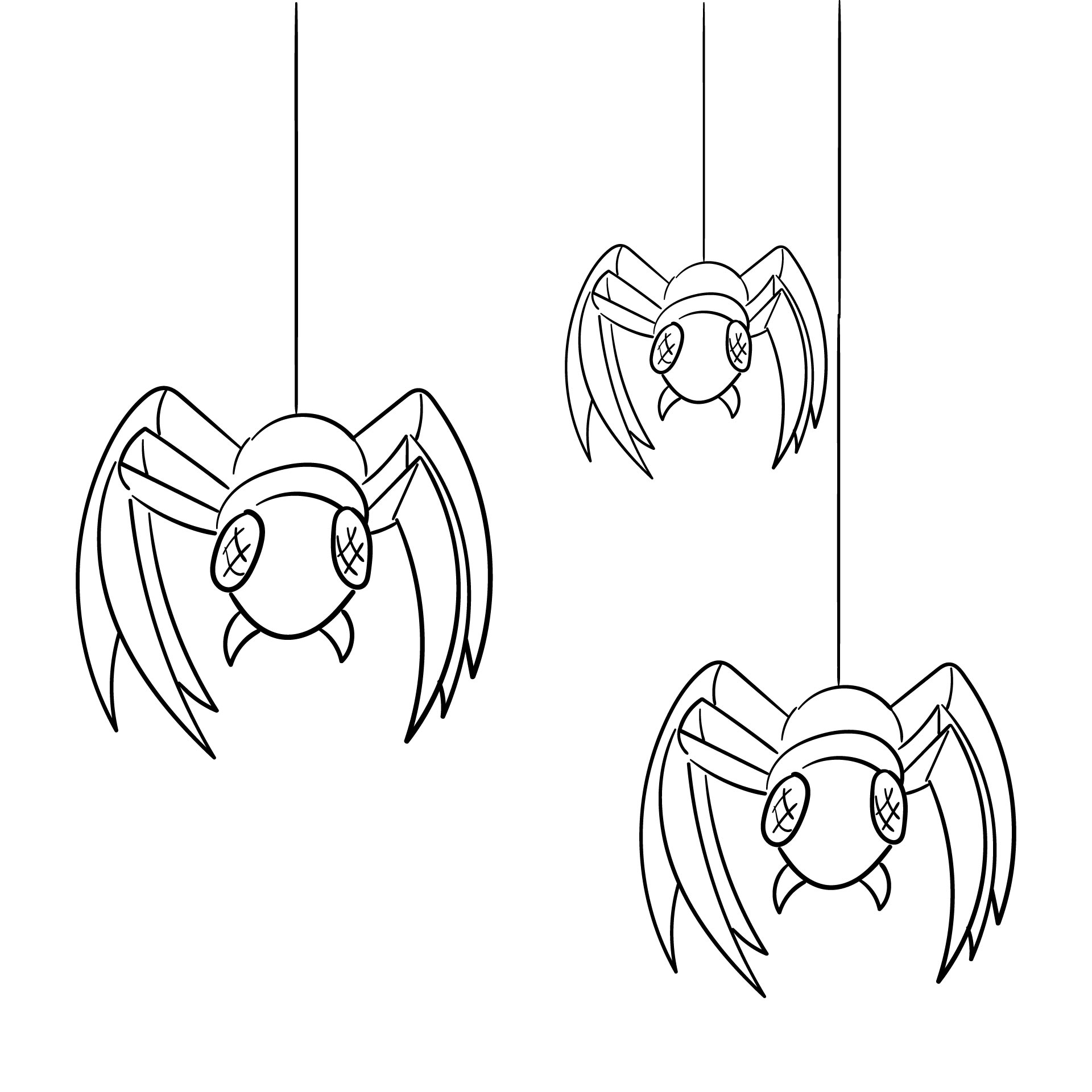 Printable Spider Coloring Pages