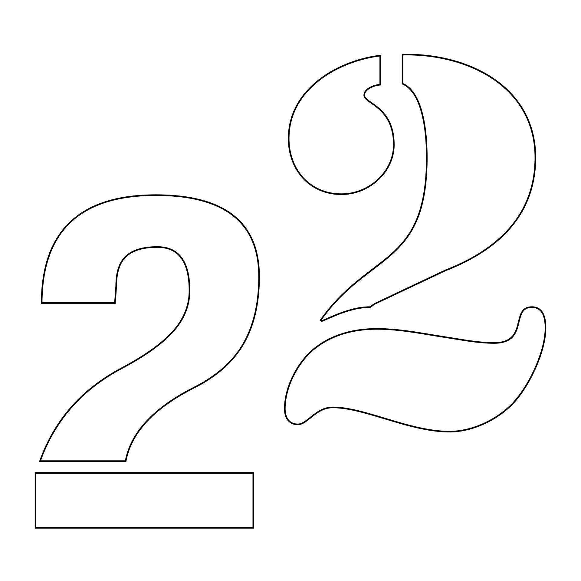 Printable Stencil Number 2