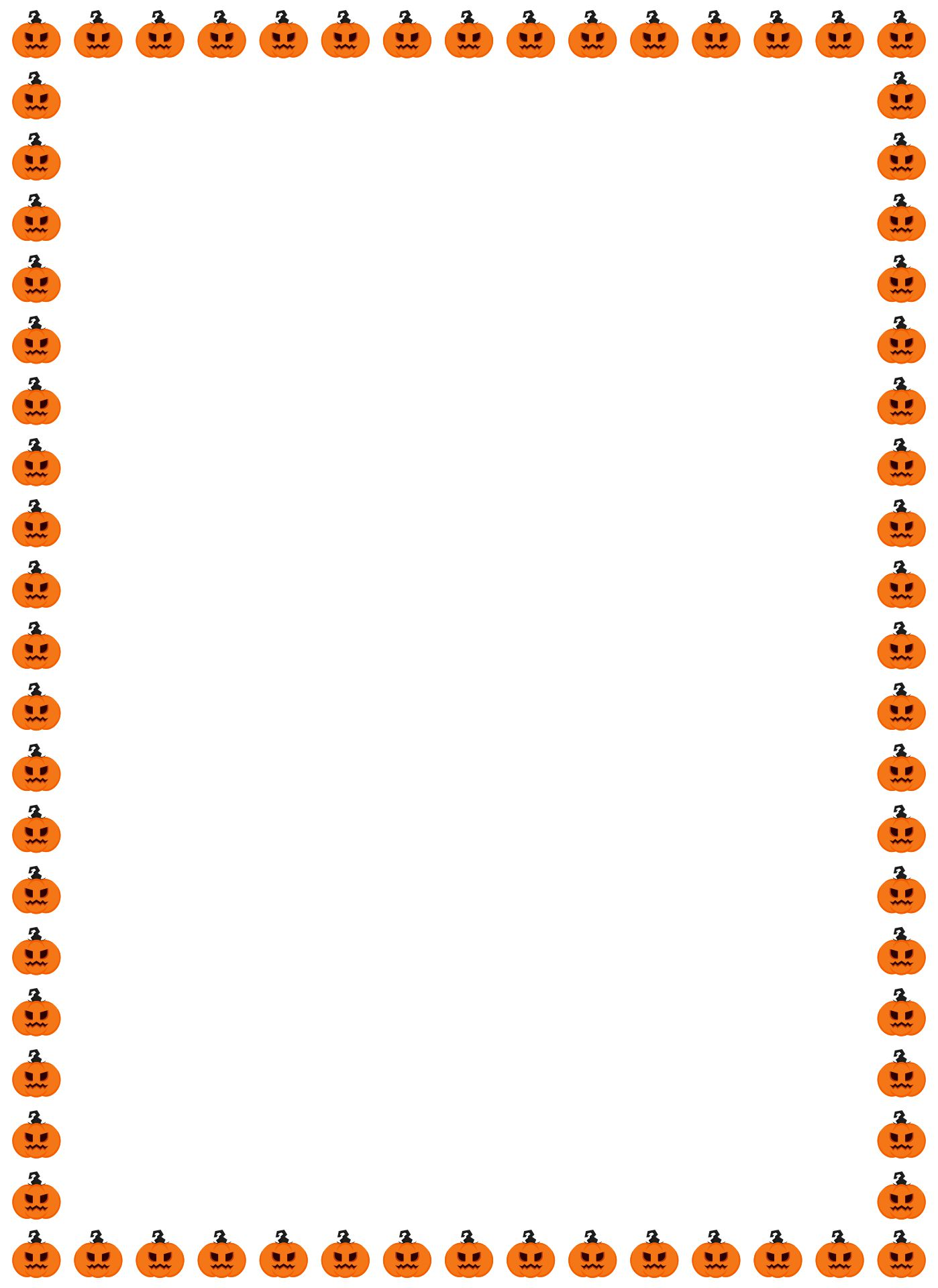 6 Images of Free Printable Halloween Border Paper