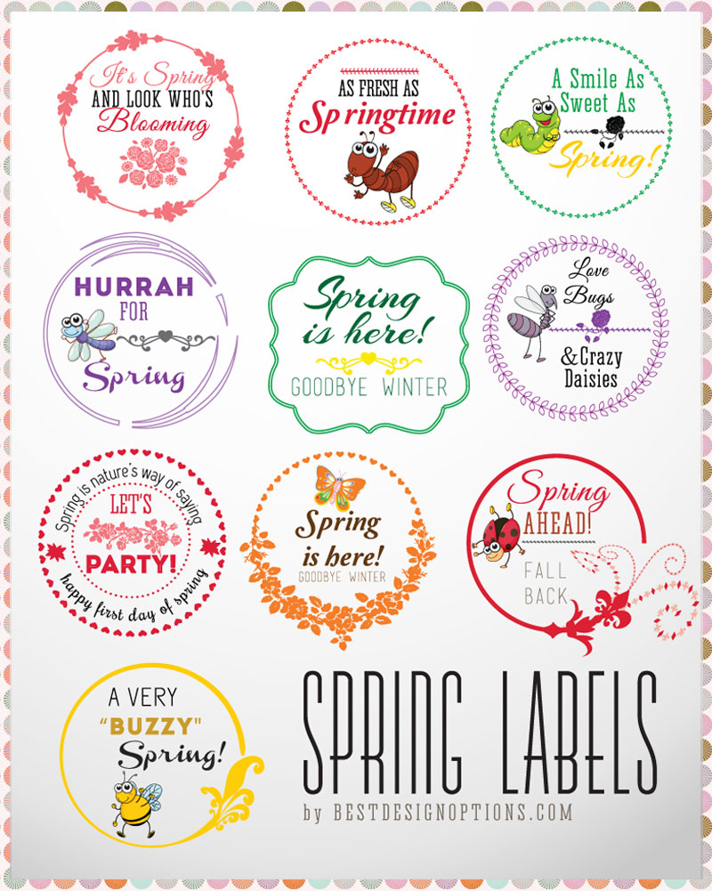 5 Images of Free Printable Spring Flower Labels