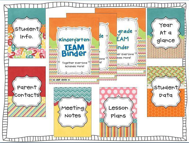 8 Images of Teacher Binder Free Printables