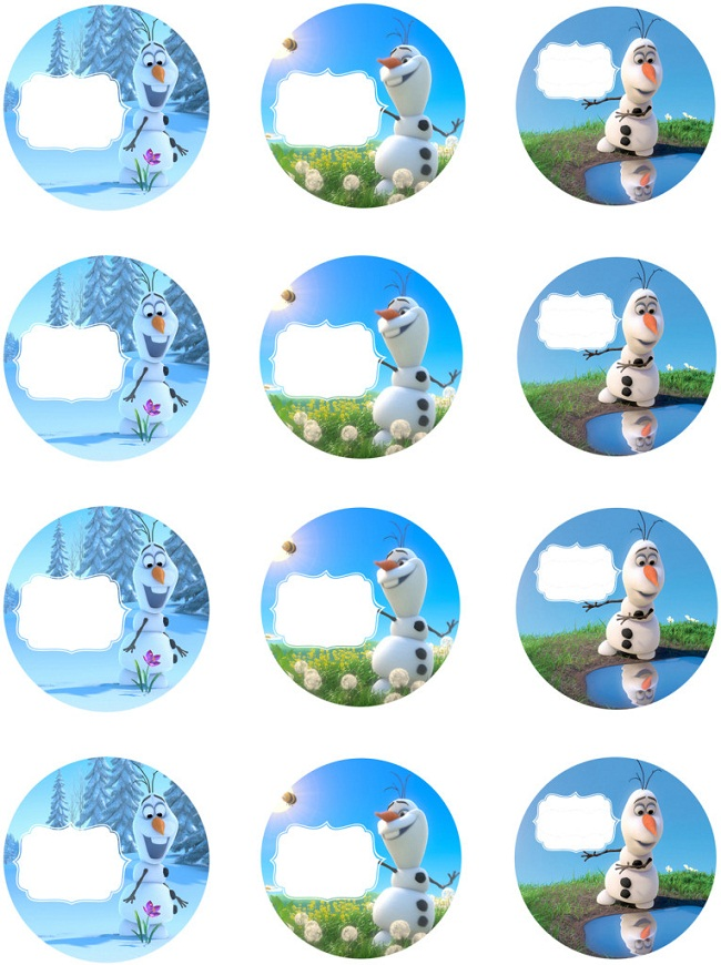 Frozen Party Labels Printable Free
