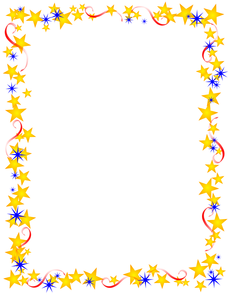 6 Images of Free Printable Star Border
