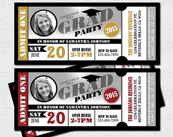 5 Images of Printable Graduation Invitations 2015 Admit One