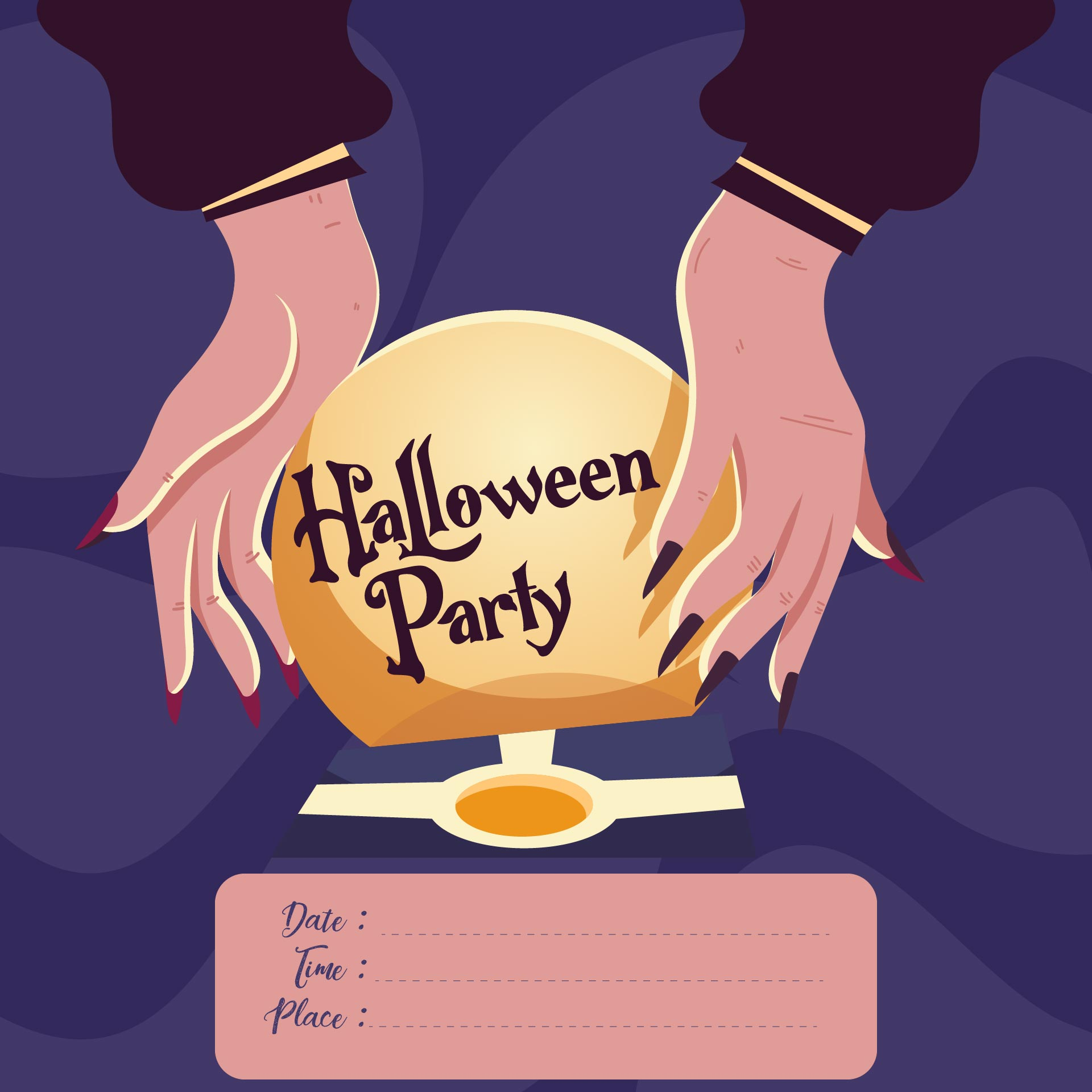 5 Images of Halloween Birthday Party Printable Invitation Templates Free