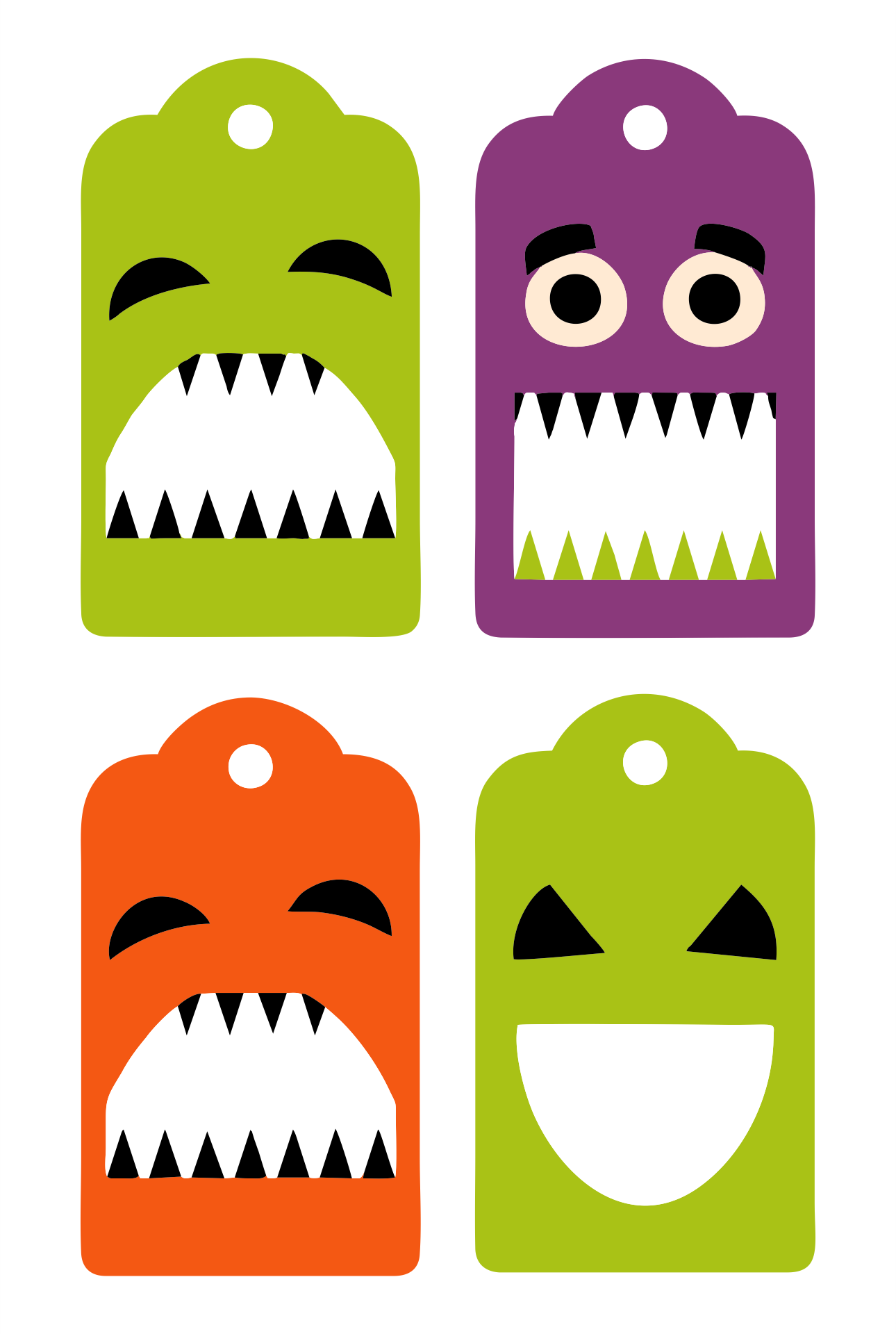 6 Images of Halloween Tags Printable Templates