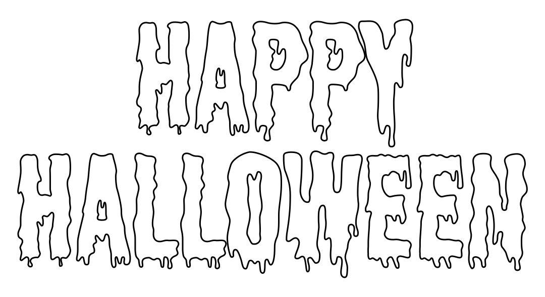 Happy Halloween Bubble Letters