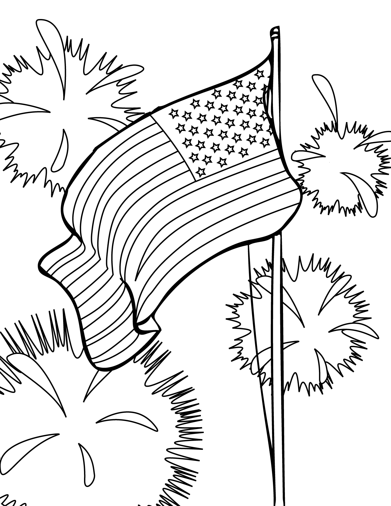 5 Images of 4th Of July Printable Coloring Sheets
