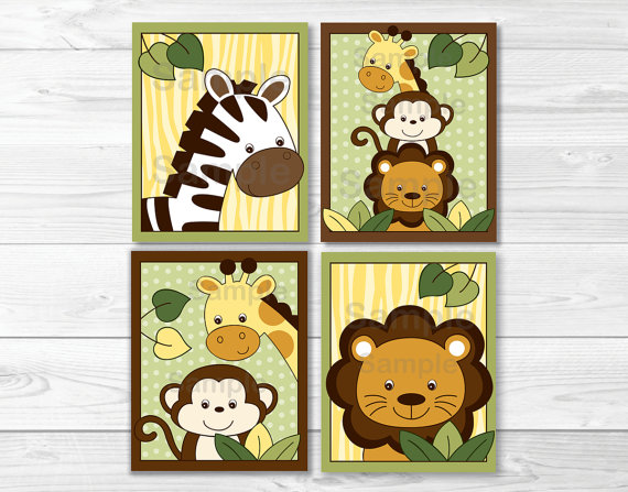 4 Images of Printable Safari Nursery Wall Decor