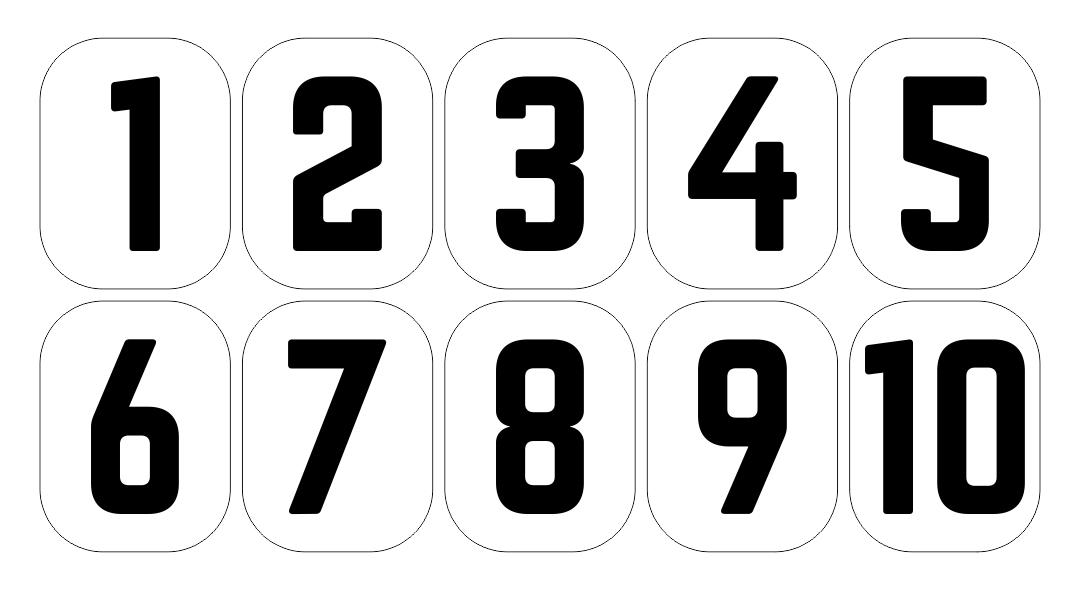 Large Printable Numbers 1 10