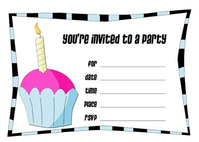 8 Images of Computer Printable Birthday Party Invitation