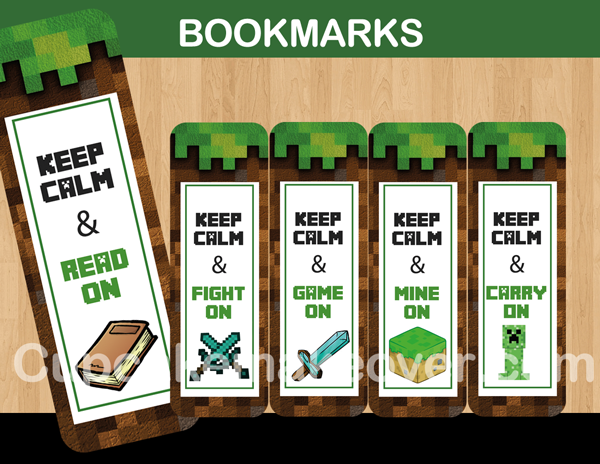 Minecraft Printable Bookmarks