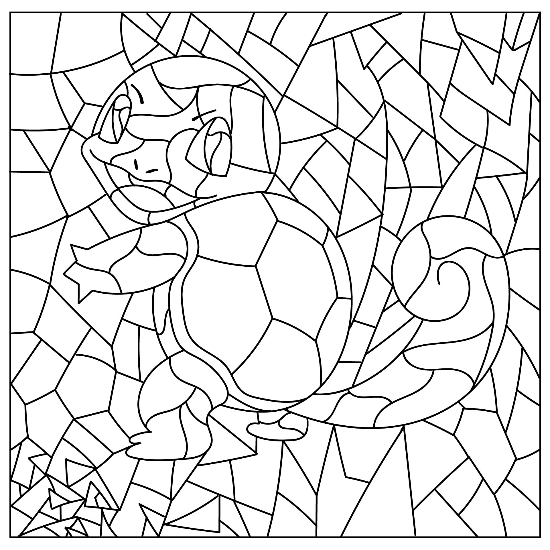 Mystery Mosaics Coloring Pages