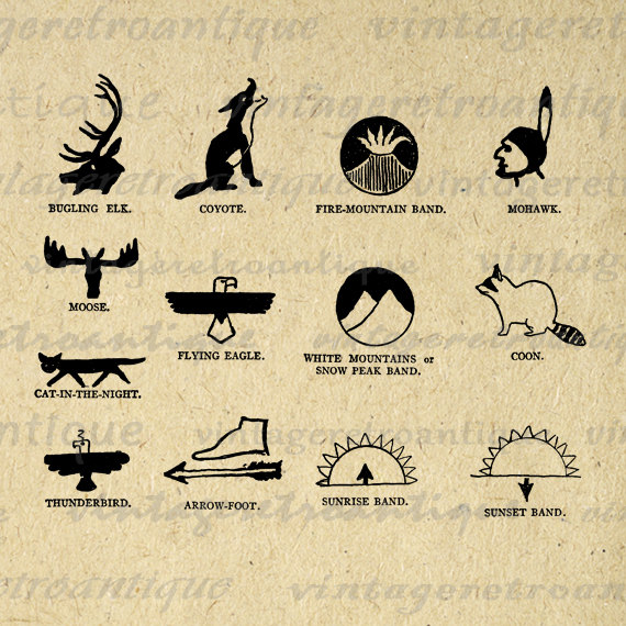 Native american symbols for kids printables