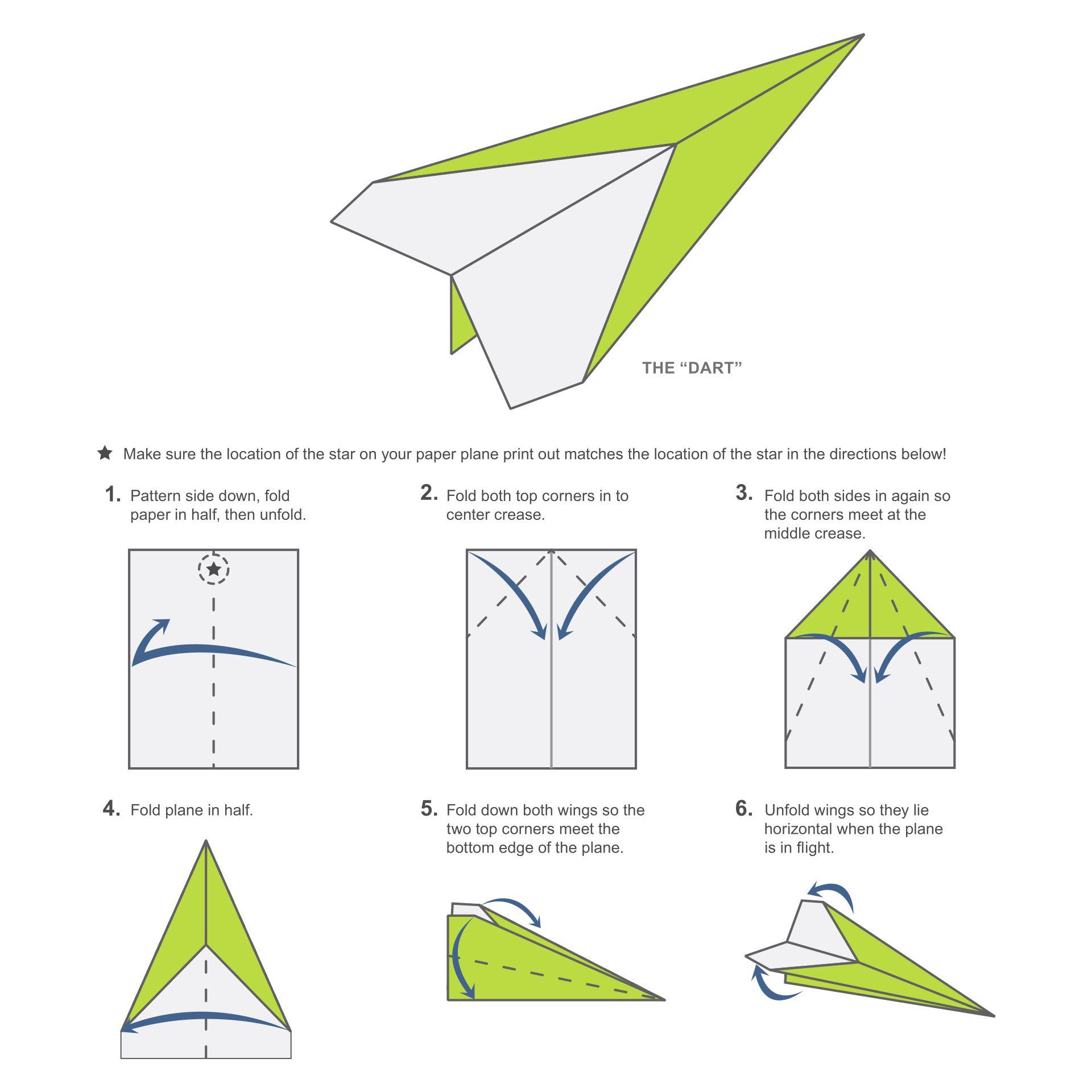 Paper Airplane Patterns Printable