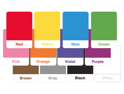 4 Images of Learning Colors Flash Cards Printable