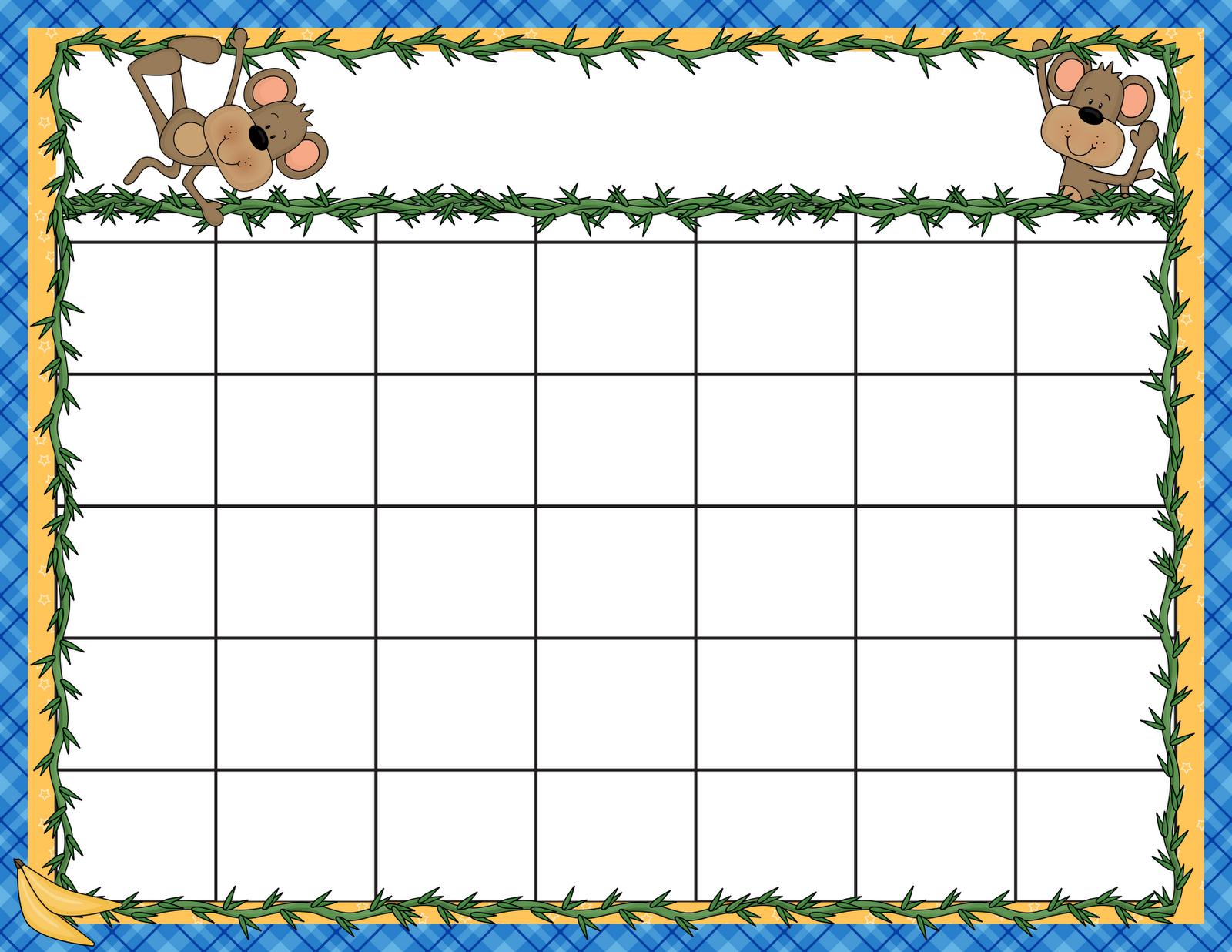 6 Images of Preschool Printable Calendar 2014