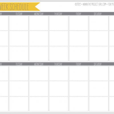 7 Images of 2 Week Calendar Printable