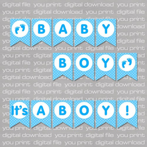 8 Best Images of Baby Boy Free Printable Banners - Free Printable ...