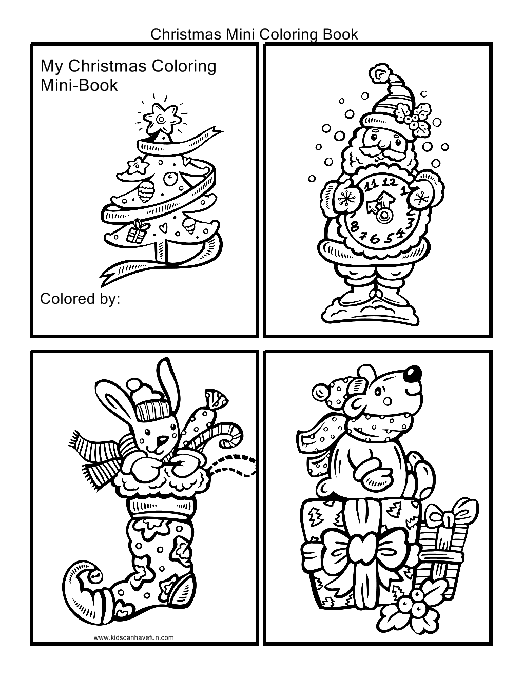 7 Images of Free Printable Mini Coloring Books