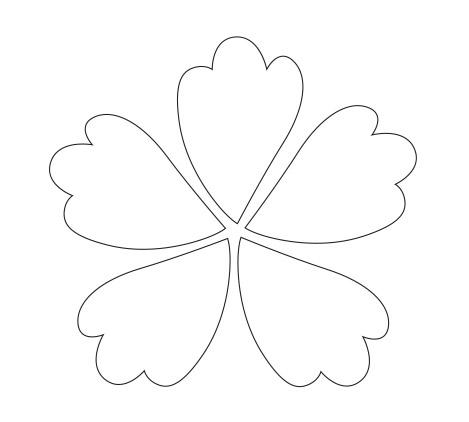 8 best images of cuttable flower petals template printable printable flower petals cut out. Black Bedroom Furniture Sets. Home Design Ideas