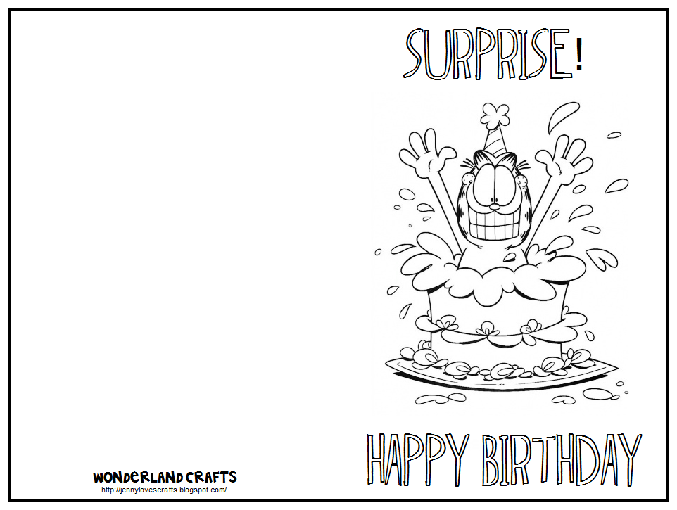 7 Images of Printable Fold Birthday Card To Color Flowers