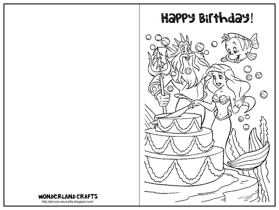 Printable Folding Birthday Cards for Kids