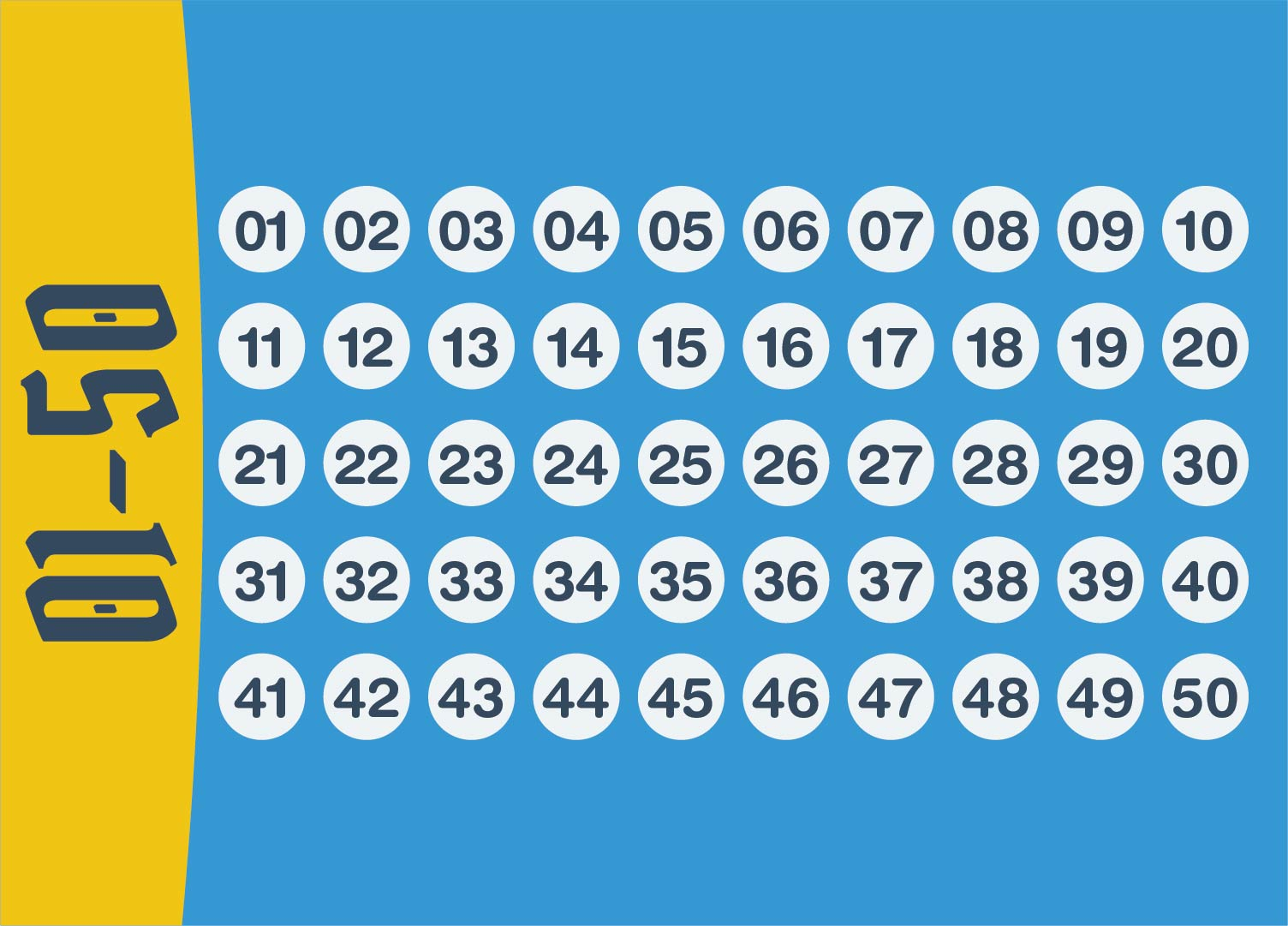 Printable Number Chart 1 50