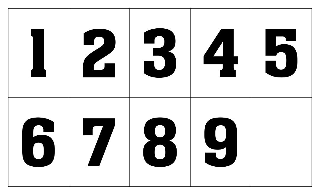 Printable Numbers 1 9