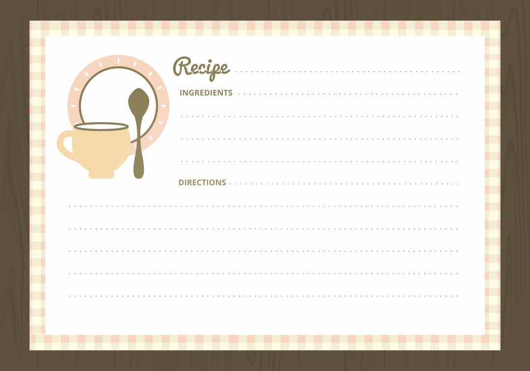 Printable Recipe Cards 4X6 Free