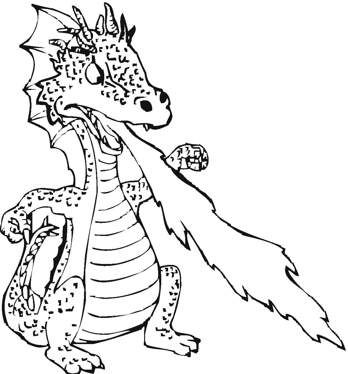 9 Images of Scary Dragon Coloring Pages Free Printable