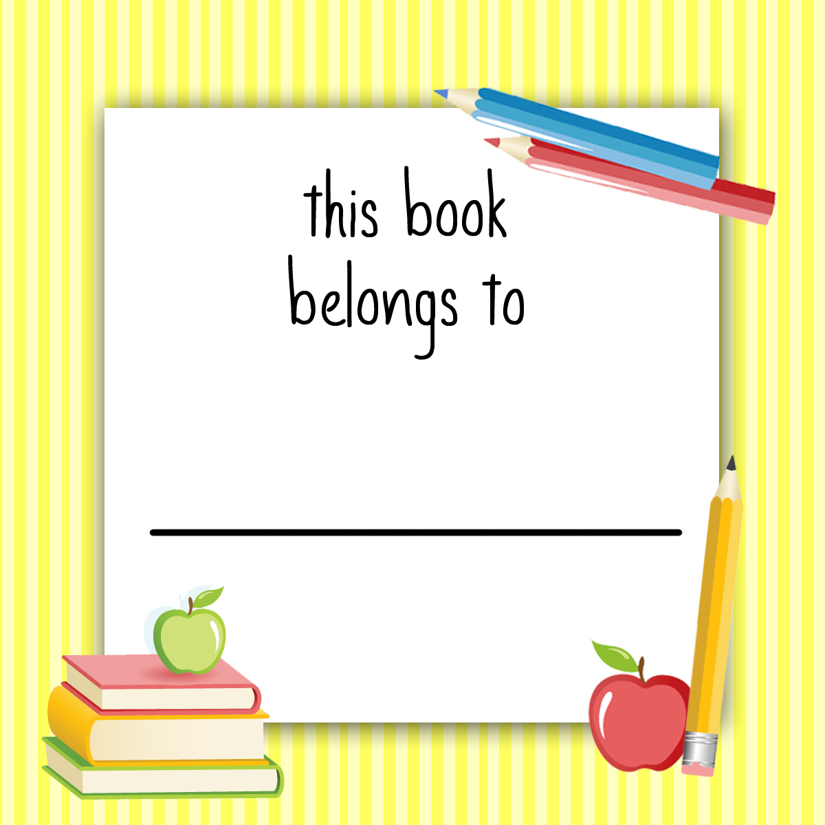 School Book Labels Printable